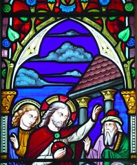 Church - St Andrew, Slaidburn 190822 [Stained Glass Window 1c] (maljoe) Tags: church churches stainedglass stainedglasswindow stainedglasswindows standrews standrewchurchslaidburn lancashire 1000bestchurches