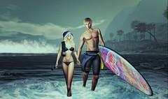 Last Summer Day (Luca Arturo Ferrarin) Tags: secondlife surfing couple love lovely beautiful beach summer memory cute bikini