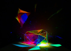 A Flawed Diamond (Steve Taylor (Photography)) Tags: diamond refractions glow prism art artgallery colourful contrast nz newzealand southisland canterbury christchurch