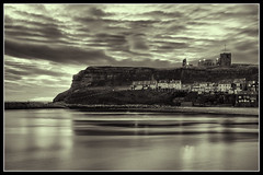 IMG_0068 St Marys Church (Scotchjohnnie) Tags: whitby stmaryschurch whitbyabbey lowlight northsea riveresk blackwhite blackandwhite mono monochrome clouds henriettastreet longexposure seascapes shoreline landscape landmark canon canoneos canon7dmkii canonef24105mmf4lisusm yorkshire northyorkshire scotchjohnnie