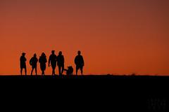 Sunset Silhouettes @ Cesar Chavez Park (Ingrid Taylar) Tags: sunset silhouette dogwalker cesarchavezpark berkeley berkeleysunset eastbay sanfranciscobayarea orange color evening sony rx10