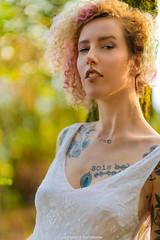 La Pierre Branlante (lettattoo) Tags: saintlégerlamontagne hautevienne france tattoo light painting inked french girl portrait short hair curly