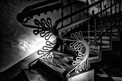 I have imagination, not fantasy (Antoni Gaudì) (drugodragodiego) Tags: barcelona spain gaudì scala stair ringhiera ricami shadows blackandwhite blackwhite bw biancoenero pentax pentaxk1 k1 pentaxdfa2470mmf28 hdpentaxdfa2470mmf28edsdmwr palauguell pentaxart greatphotographers catalunya