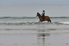 on est bien dans son bain (Patrick Doreau) Tags: re mer sea plage beach jumping eau water sable sand bretagne brittany