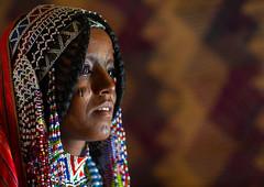 Portrait of an Afar tribe girl with beaded headwear, Central region, Asmara, Eritrea (Eric Lafforgue) Tags: afar africa africanethnicity asmara asmera beads braids children danakil day eastafrica eritrea eritrea190805 eritrean ethnic ethny girls headandshoulders headshot horizontal hornofafrica indigenousculture lookingatcamera lookingaway onegilronly oneperson outdoors photography portrait realpeople scarifications scars traditionalclothing traditionalculture tribal centralregion