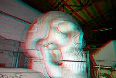 Skull by Atelier van Lieshout 3D (wim hoppenbrouwers) Tags: skull ateliervanlieshout 3d anaglyph stereo redcyan avl mundo rotterdam art kunst schedel dordrecht
