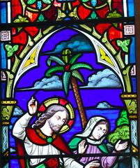 Church - St Andrew, Slaidburn 190822 [Stained Glass Window 1b] (maljoe) Tags: church churches stainedglass stainedglasswindow stainedglasswindows standrews standrewchurchslaidburn lancashire 1000bestchurches