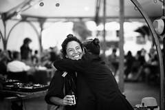 Happiness (King_Kozmik) Tags: black white blackartwhite blackandwhite blackwhite noiretblanc noir mono monochrom monochrome girl woman love happy happiness street streetart candid zurich europe