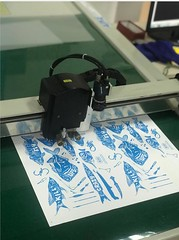 Sticker Decal Kiss Cut Plotter Half Cut Flatbed Cutting Machine (AOKE box sample maker gasket blanket cutting machi) Tags: sticker decal kiss cut plotter half flatbed cutting machine