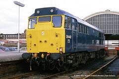 13/07/1984 - Hull (Paragon), East Yorkshire. (53A Models) Tags: britishrail brush type2 class31 31442 diesel hull paragon eastyorkshire train railway locomotive railroad