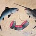 Mural in a fisherman shop, Sahil region, Berbera, Somaliland