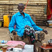 Portrait of an old somali man having a tea in a local bar, Sahil region, Berbera, Somaliland