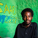 Young somali man in a shop with green walls, Sahil region, Berbera, Somaliland