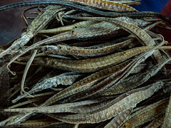 Desiccated Pipe Fish (Steve Taylor (Photography)) Tags: pipefish chinatown dried desiccated stall fish shop asia singapore texture