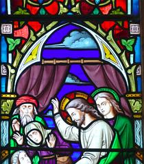 Church - St Andrew, Slaidburn 190822 [Stained Glass Window 1d] (maljoe) Tags: church churches stainedglass stainedglasswindow stainedglasswindows standrews standrewchurchslaidburn lancashire 1000bestchurches