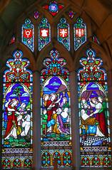 Church - St Andrew, Slaidburn 190822 [Stained Glass Window 1a] (maljoe) Tags: church churches stainedglass stainedglasswindow stainedglasswindows standrews standrewchurchslaidburn lancashire 1000bestchurches