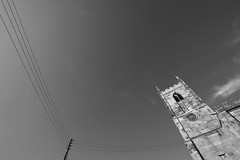 Online (Tony Tooth) Tags: nikon d7100 sigma 1020mm church powerlines online stleonard ipstones staffs staffordshire bw blackandwhite monochrome