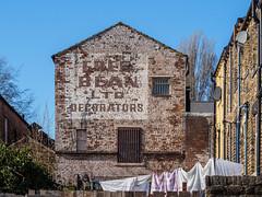 Cleckheaton 003 (Peter.Bartlett) Tags: peterbartlett urban uk m43 microfourthirds unitedkingdom facade olympuspenf sign wall westyorkshire colour cleckheaton england