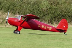 Luscombe 8AC Silvaire Deluxe G-BRSW (Gavin Livsey) Tags: silvaire luscombe bloodymary gbrsw laarally sywell
