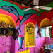 Colorful decoration inside a fisherman shop, Sahil region, Berbera, Somaliland