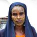 Portrait of a somali woman with qasil on her face, Sahil region, Berbera, Somaliland