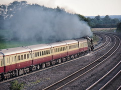 34046 1Z94 Bolton Percy 14-09-19 (Robin Patrick's Trains) Tags: 34046 braunton saphos trains the yorkshire traveller bolton percy bullied pacific west country