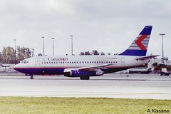 CANADIAN AIRLINES B737 C-FCPN (Adrian.Kissane) Tags: 737 boeing jet plane airline airliner aircraft aeroplane aviation taxing airport ramp sky outdoors 22762 1998 b737 cfcpn miami canadian