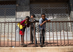 Eritrean boys leaning on a fence, Central region, Asmara, Eritrea (Eric Lafforgue) Tags: africa city boys childhood horizontal fence children outdoors photography togetherness day friendship dailylife leaning asmara eritrea hornofafrica eastafrica vitality boysonly threepeople childrenonly asmera centralregion eritrea190864