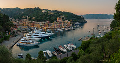 Portofino (W.MAURER foto) Tags: italy italien ligurien portofino harbour hdrpanorama panorama boats ship water sea seascape evening mediteraniansea mittelmeer genova luxury rich travel tourismus touristattraction summer warmth nikond800
