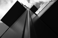 DSC_9260 angles - abstract architecture (Filip Patock) Tags: angles triangles geometry geometric architecture abstract abstraction art artistic building blackwhite bw black skyline lines photography nikond3200 manchester modern urban