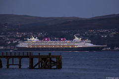 The cruise ship MV Disney Magic, IMO 9126807; Firth of Clyde, Scotland (Michael Leek Photography) Tags: ship cruise cruiseship cruising night nightphotography gourock firthofclyde clyde westcoastofscotland westernscotland scotland scottishcoastline scottishlandscapes scotlandslandscapes scottishshipping vessel passengervessel passengership disney cowal cowalpeninsula strone michaelleek michaelleekphotography