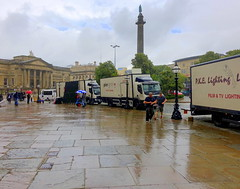 Location filming outside St George's Hall at Liverpool (Tony Worrall) Tags: liverpool merseyside film television filming location filmset urban outdoors shooting place nw northwest north update uk england visit area attraction open stream tour country item greatbritain britain english british gb capture buy stock sell sale outside caught photo shoot shot picture captured ilobsterit instragram vintage drama history carriage relic olden past tower vans lorry wet reflections column flat damp rainy stgeorgeshall