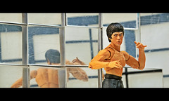 Enter the Dragon (RK*Pictures) Tags: brucelee actionfigure toy dragon gameofdeath leejunfan 李小龍 李振藩 hongkongamerican martialarts jeetkunedo actor philosopher hongkong chinatownsanfrancisco martialartsinstructor thebigboss fistoffury wayofthedragon enterthedragon chinese yellowandblack tracksuit pagoda nunchuks nunchaku kungfu karate martialartist cult influential martialartsfilm movie iconicfigure oneinchpunch kick punch ascensionofthedragon strength speed fist rkpictures toyphotography actionfigurephotography bandai shfiguarts toyart