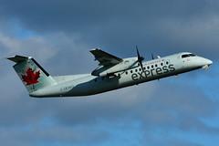 C-GEWQ (Air Canada express - JAZZ) (Steelhead 2010) Tags: aircanada aircanadaexpress yul jazz dehavillandcanada dhc8 dhc8300 creg cgewq