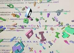 Symbolic Recursion 1 (sjrankin) Tags: 15september2019 edited test illustration program shapes blocks colors app text code swift liveview processed closeup