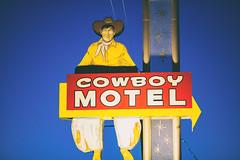 Cowboy Motel (Thomas Hawk) Tags: amarillo america cowboymotel route66 texas usa unitedstates unitedstatesofamerica cowboy motel neon neonsign