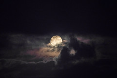 Full Moon Rising through the Clouds (Kei Edamatsu) Tags: moon nature space sky fullmoon cloud