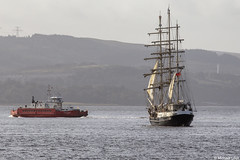 The Jubilee Sailing Trust's barque SV Tenacious, IMO 1005679; Firth of Clyde, Scotland (Michael Leek Photography) Tags: ship tallship sailingship sailtraining sails rigging squarerigger squarerig westernferries westernscotland westcoastofscotland firthofclyde clyde inverclyde strone holyloch ferry vessel scotland scottishcoastline scottishlandscapes scotlandslandscapes scottishshipping workingboat workboat boat boats ships merchantship merchantvessel merchantships michaelleek michaelleekphotography