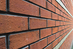 DSC_8635 bricks - urban abstraction (Filip Patock) Tags: bricks brick pattern red geometry geometric lines perspective manchester wall wallpaper urban minimalism closeup creative photography nikond3200 abstract abstraction artistic