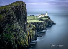 Neist Point. (Nathan J Hammonds) Tags: long exposure scotland neist point lighthouse nikon d850 lee filters uk sea seascape coast water sunset dusk summer cliffs rock
