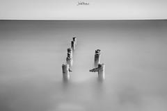 Minimal Seascape (iosif.michael) Tags: sony a7 sea seascape highkey bw nature sky water pier abandoned cyprus minimal longexposure leefilters