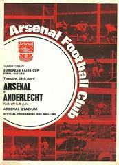 Arsenal v Anderlecht 19700428 (tcbuzz) Tags: arsenal football club highbury stadium london england uefa intercity fairs cup final programme