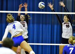 ccsuvolleyball-br-091619_1446 (newspaper_guy Mike Orazzi) Tags: volleyball collegeathletics collegesports 300mmf28dii d850 nikon nikkor sportsphotograher sportsphotography bucknelluniversity ccsu bluedevils bisons women availablelight highiso