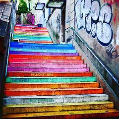Wuppertal ist bunt (mrburton75) Tags: color wuppertal farbe bunt elberfeld treppe stufen street streetart art kunst stair staircase holsteiner