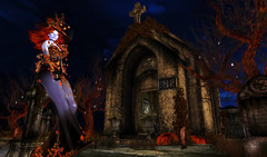 Halloween MAUSOLEUM and TOMBSTONE (kyoka jun) Tags: halloween mausoleum build autumn mesh creepy horror church victorian stone cross gothic religion altar fantasy hud pumpkin fall leaves leaf plant garden grass script vampire witch nun isissecretspy irrisistible shop sl second life secondlife graveyard tombstones tomb tombstone dead die dry pray mossy old ハロウィン お墓 霊 セカンドライフ セカンドライフブログ