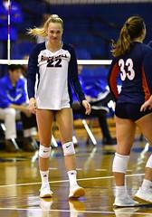 ccsuvolleyball-br-091619_1741 (newspaper_guy Mike Orazzi) Tags: volleyball collegeathletics collegesports 300mmf28dii d850 nikon nikkor sportsphotograher sportsphotography bucknelluniversity ccsu bluedevils bisons women availablelight highiso