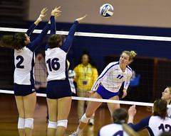 ccsuvolleyball-br-091619_1320 (newspaper_guy Mike Orazzi) Tags: volleyball collegeathletics collegesports 300mmf28dii d850 nikon nikkor sportsphotograher sportsphotography bucknelluniversity ccsu bluedevils bisons women availablelight highiso