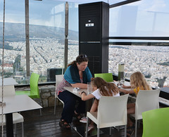 Lunch with a view / Vaatega lõunasöök (Eemeez) Tags: mountlycabettus lunch katrin marta linda restaurant athens greece