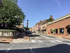 South Main, Lexington, VA, 2019 (Tom Powell) Tags: appleiphone6 lexington virginia shadows 2019 lines vanishingpoints