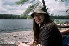 Olivia at lakeside (Waitingforthelight) Tags: fujisuperia200 film canonl3 rangefinder ltm